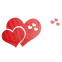 לבבות - מדבקת מראה