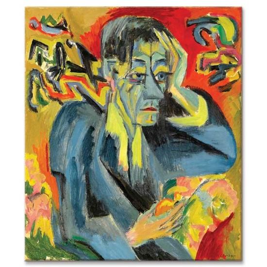 Ernst Ludwig Kirchner - Portrait of the poet Leonhard Frank, 1917