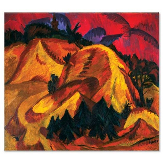 Ernst Ludwig Kirchner - Sand Hills in Engadine, 1918