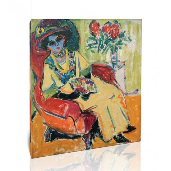Ernst Ludwig Kirchner - Seated Lady, 1907