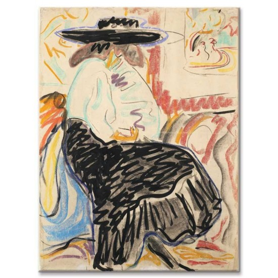 Ernst Ludwig Kirchner - Seated Woman in the Studio