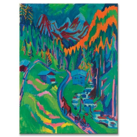 Ernst Ludwig Kirchner - Sertig Path in Summer - 1924