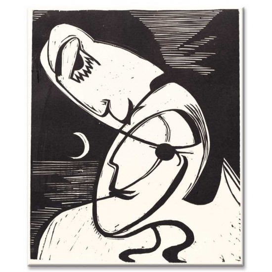 Ernst Ludwig Kirchner - The Kiss, 1930