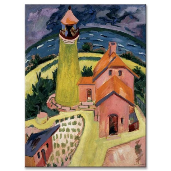 Ernst Ludwig Kirchner - The Lighthouse of Fehmarn, 1912