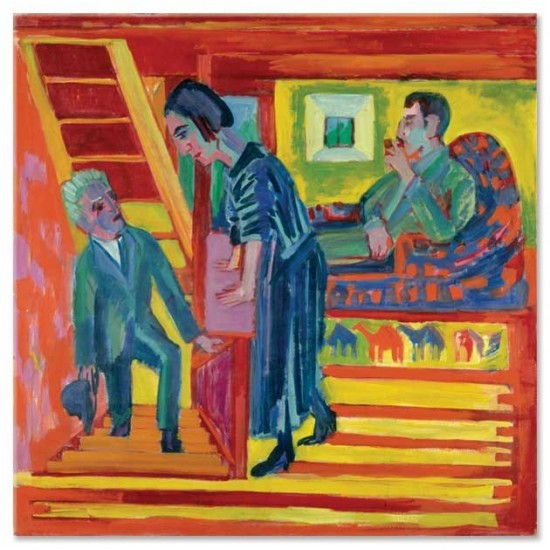 Ernst Ludwig Kirchner - The Visit–Couple and Newcomer, 1922