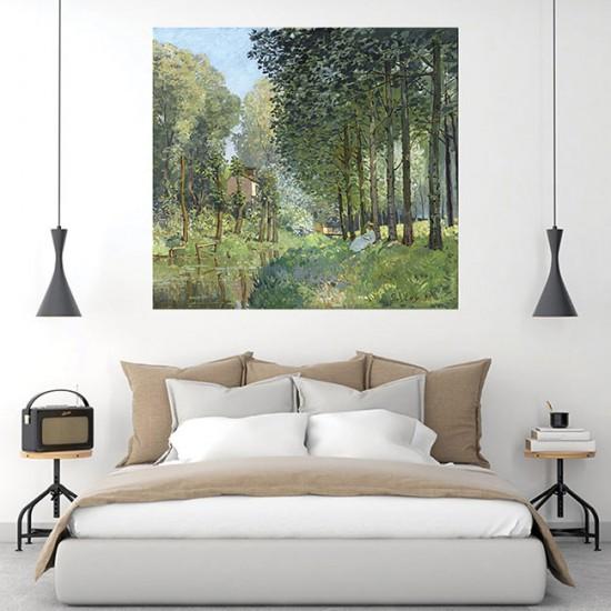 מנוחה ליד הנחל, קצה היער