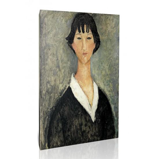 בחורה עם שיער שחור