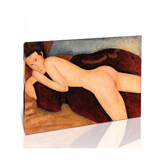 גב של אישה עירומה