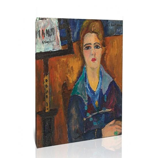 האישה עם השרשרת, דוגמנית של מודיליאני