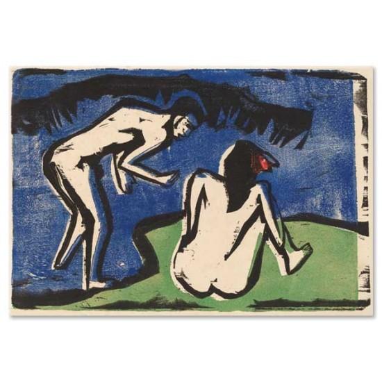 Ernst Ludwig Kirchner - Bathing Couple, 1910