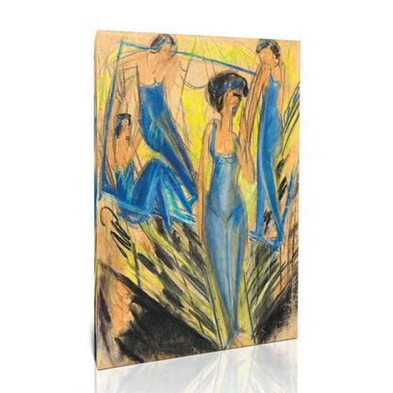 Ernst Ludwig Kirchner - Blue Dressed Artists 1914