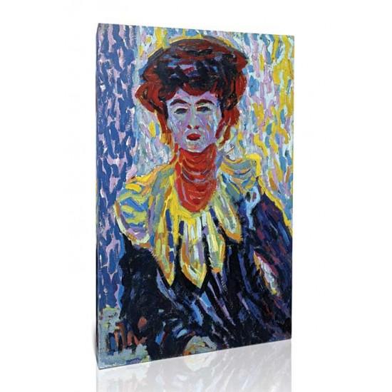 Ernst Ludwig Kirchner - Doris with High Neck 1906