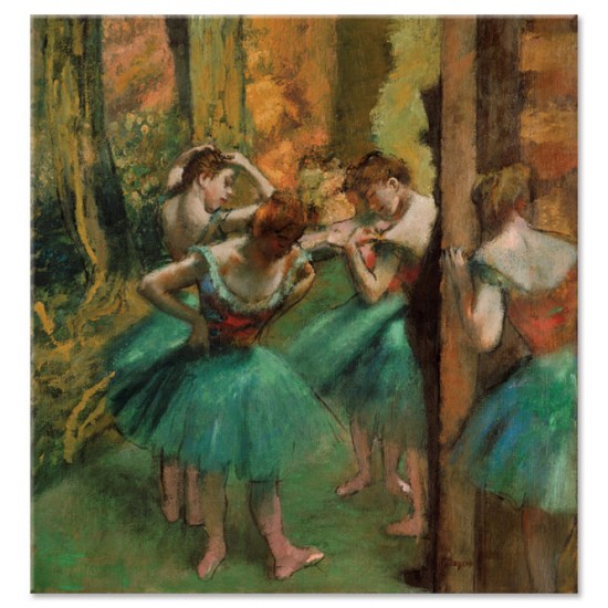 רקדניות בורוד וירוק