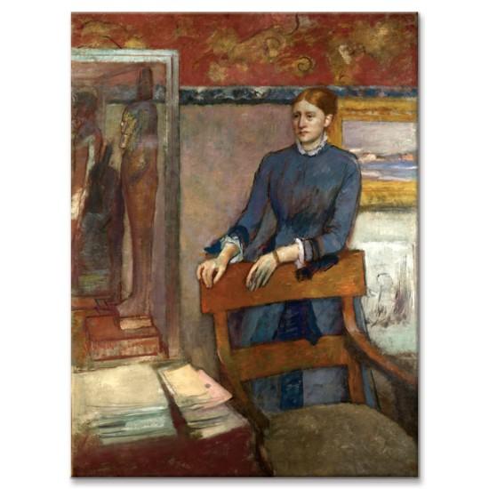 הלנה רוארט בחדר העבודה של אביה