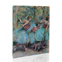 שלוש רקדניות - חצאיות כחולות, מחוכים אדומים