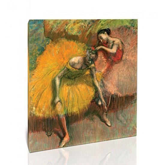 שתי רקדניות, צהוב וורוד
