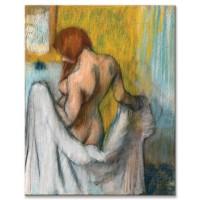 אישה ומגבת