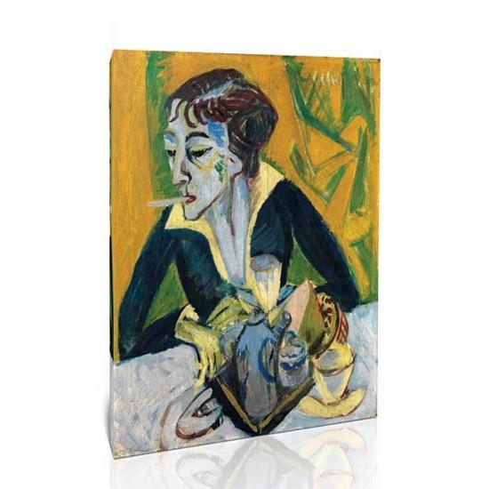 Ernst Ludwig Kirchner - Erna with Cigarette, 1915