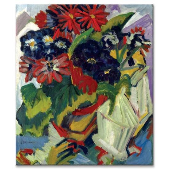 Ernst Ludwig Kirchner - Flower Pot and Sugar Bowl