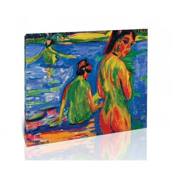 Ernst Ludwig Kirchner - Girl Bathing in the Lake, Moritzburg, 1909
