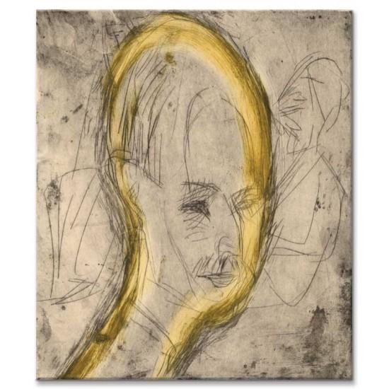 Ernst Ludwig Kirchner - Head of Dr Bauer, 1921