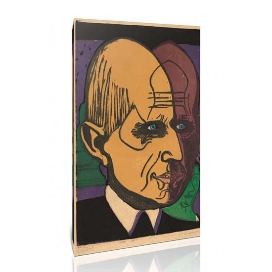 Ernst Ludwig Kirchner - Head of Dr. Bauer, 1933