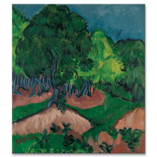 Ernst Ludwig Kirchner - Landscape with Chestnut Tree, 1913