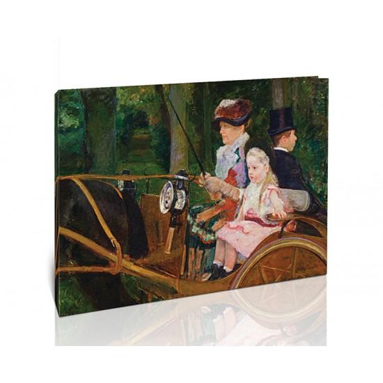 אישה וילדה במושב הנהג