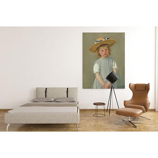 ילדה בכובע קש