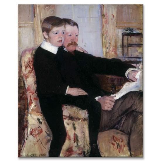 אלכסנדר קאסאט ובנו רוברט