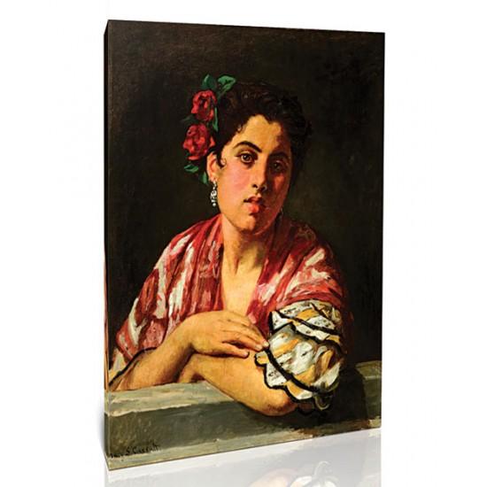 בחורה ספרדיה נשענת על אדן החלון