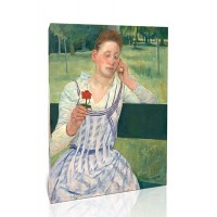 אישה עם ציניה אדומה