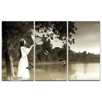 אישה ופרפרים