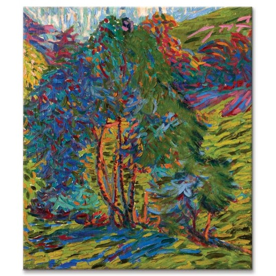 Ernst Ludwig Kirchner - Mountain Forest with House, 1921