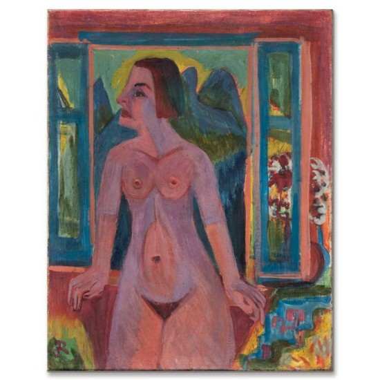 Ernst Ludwig Kirchner - Nude Woman at Window, 1922