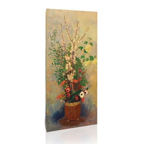 אגרטל פרחים עם ענפי עץ תפוח פורחים