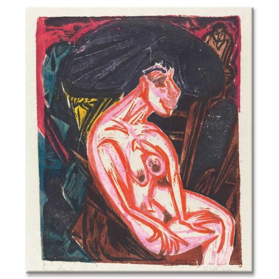 Ernst Ludwig Kirchner - Peter Schlemihl's Wondrous Story- The Beloved, 1915