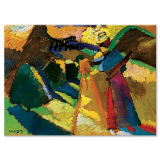 גבריאלה מינטר מציירת בחוץ