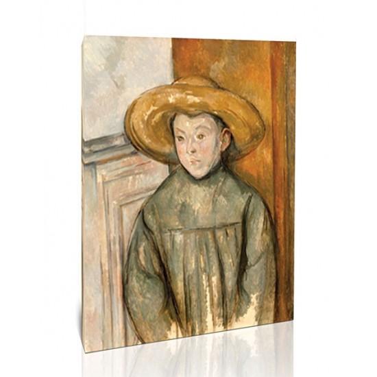 ילד בכובע קש