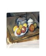 טבע דומם, אגרטל, כלי לסוכר ותפוחים