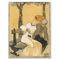 גבר ואישה יושבים על ספסל