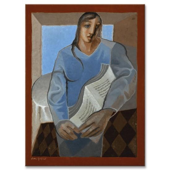 אישה עם ספר