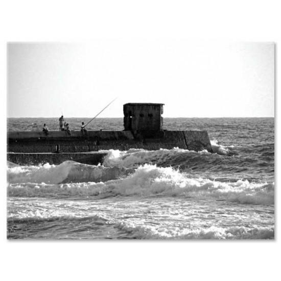 דייגים על המזח