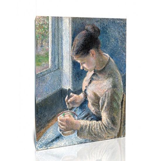 ארוחת בוקר, אישה צעירה שותה קפה