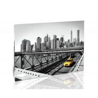 מונית על גשר, ניו יורק