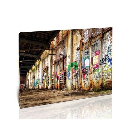 גרפיטי במפעל נטוש