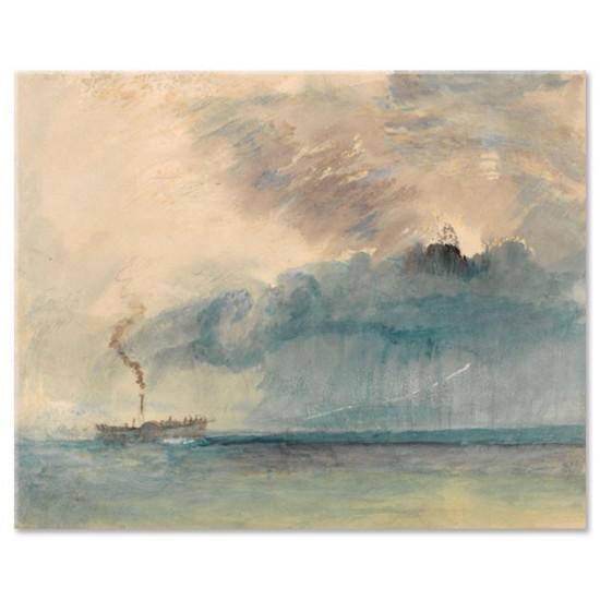 ספינת קיטור בסערה