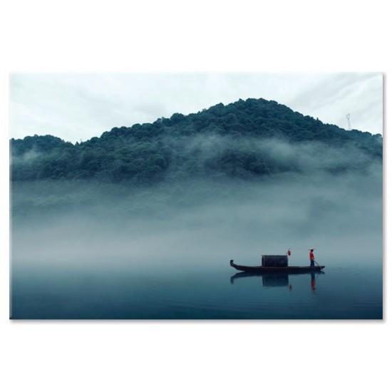 דייג בערפילי הבוקר