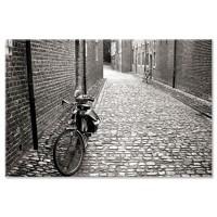 אופניים בסמטת אבן