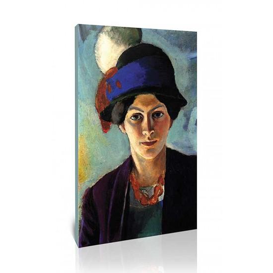 אשת האמן עם כובע